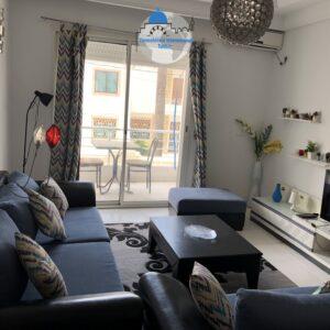 Beau appartement S+2 meublé à khezama Est