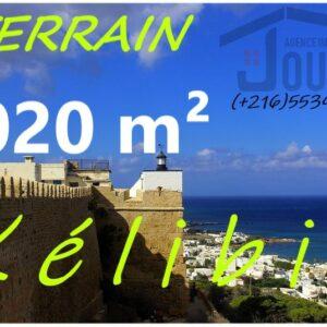 Terrain 1020m2 Pied Dans L'eau A Kélibia